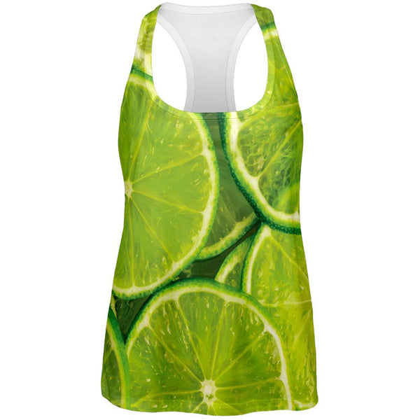 Limes Citrus All Over Womens Work Out Tank Top