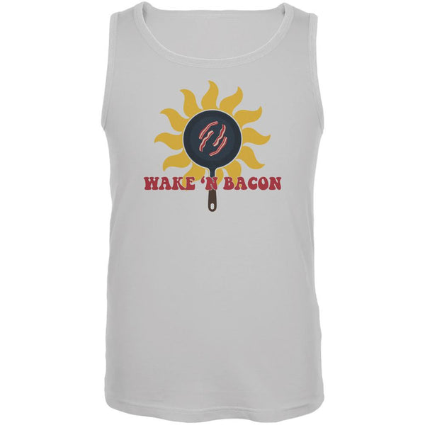 Wake 'n Bacon White Adult Tank Top