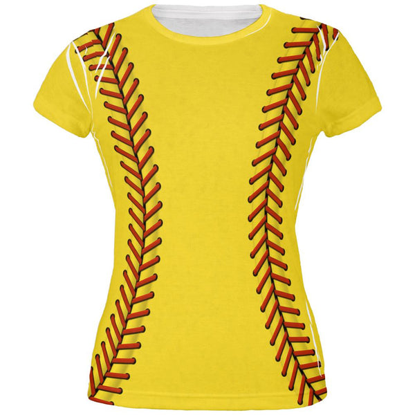 Softball Costume All Over Juniors T-Shirt