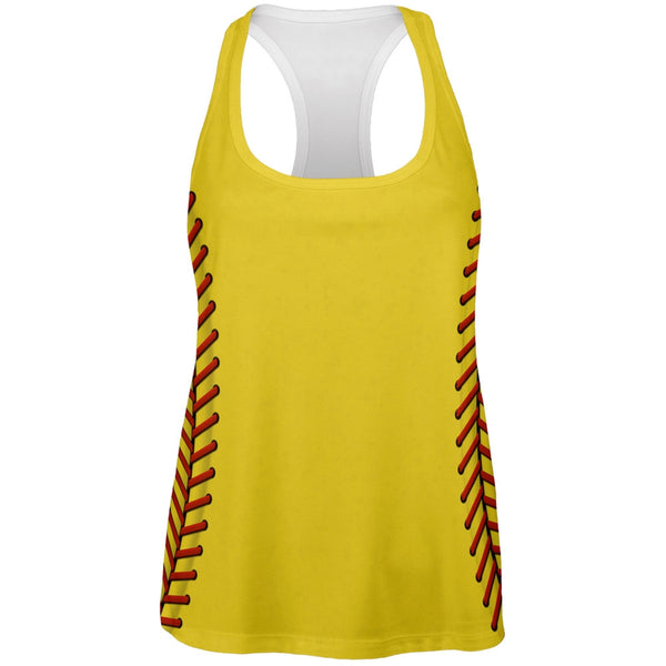 Softball Costume All Over Womens Work Out Tank Top