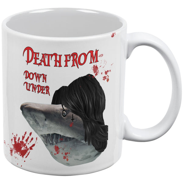 Death From Down Under Shark White All Over Coffee Mug