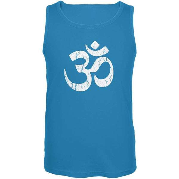 Yoga Om Turquoise Adult Tank Top