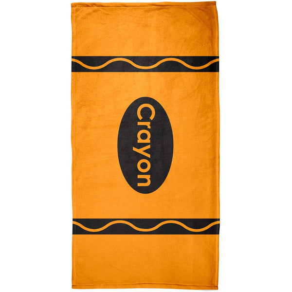 Crayon Orange All Over Beach Towel