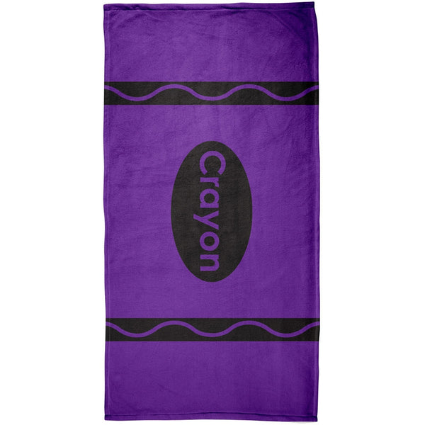 Crayon Purple All Over Beach Towel