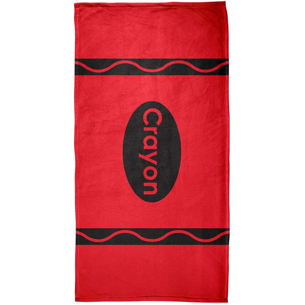 Crayon Red All Over Beach Towel