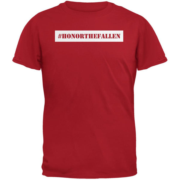 Memorial Day Hashtag Honor the Fallen Red Adult T-Shirt