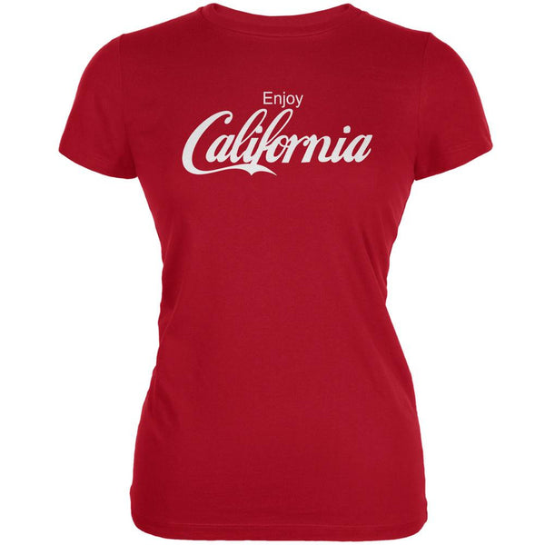 Enjoy California Red Juniors Soft T-Shirt