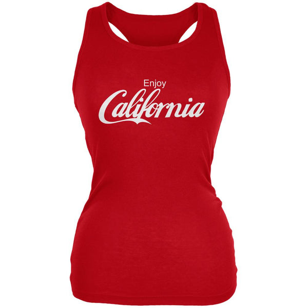 Enjoy California Red Juniors Soft Tank Top