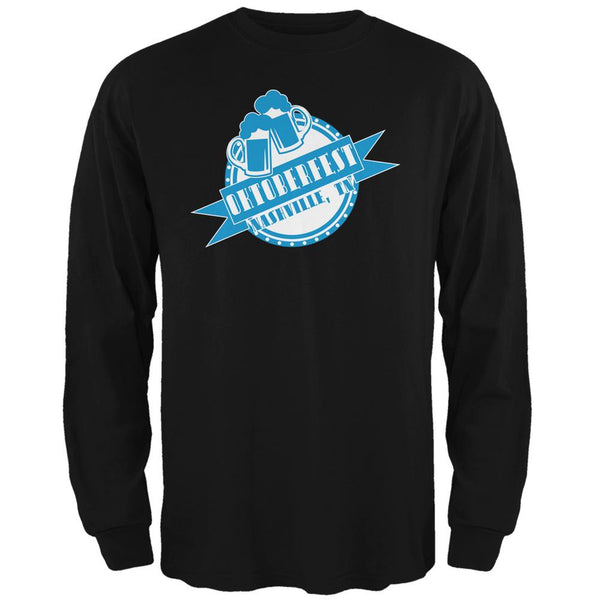 Oktoberfest Nashville TN Black Adult Long Sleeve T-Shirt
