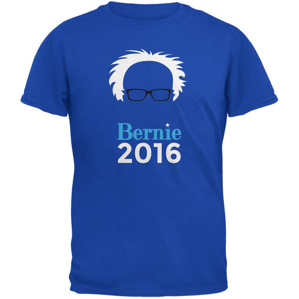 Election 2016 Bernie Sanders Hair Minimalist Royal Adult T-Shirt