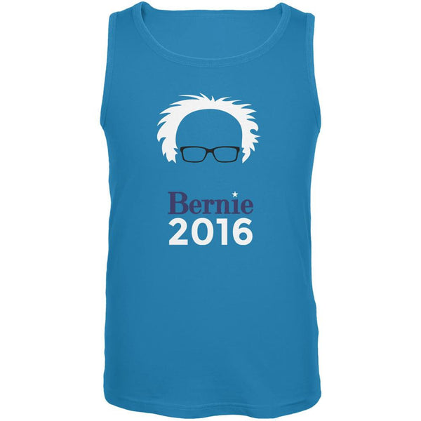 Election 2016 Bernie Sanders Hair Minimalist Turquoise Adult Tank Top