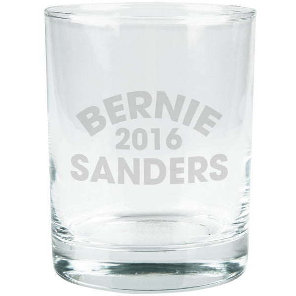 Election 2016 Bernie Varsity Etched Glass Tumbler