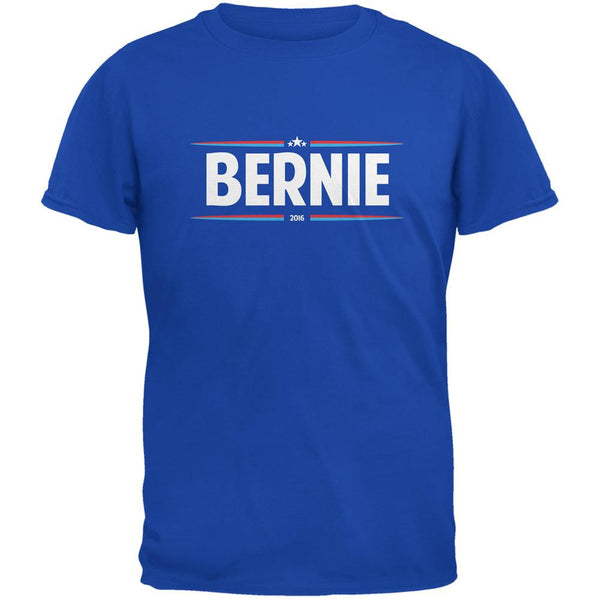 Election 2016 - Bernie Thin Stripes Royal Adult T-Shirt