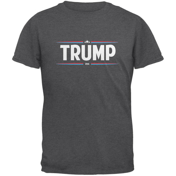 Election 2016 - Trump Thin Stripes Dark Heather Adult T-Shirt