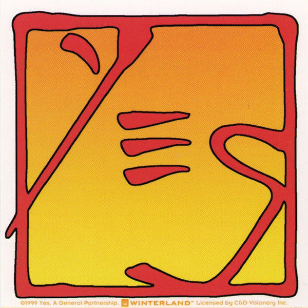 Yes - Orange Logo Sticker