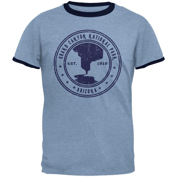 Grand Canyon National Park Vintage Heather Blue Men's Ringer T-Shirt