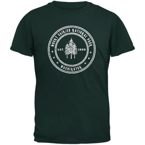 Mount Rainier National Park Forest Green Youth T-Shirt
