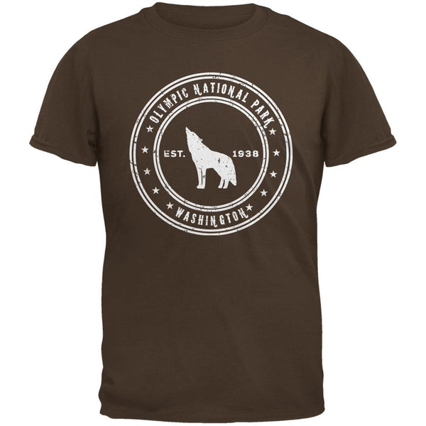 Olympic National Park Brown Adult T-Shirt