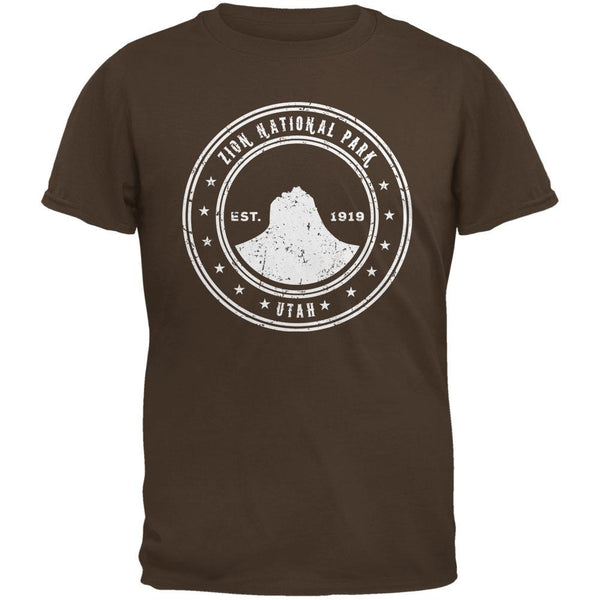 Zion National Park Brown Adult T-Shirt
