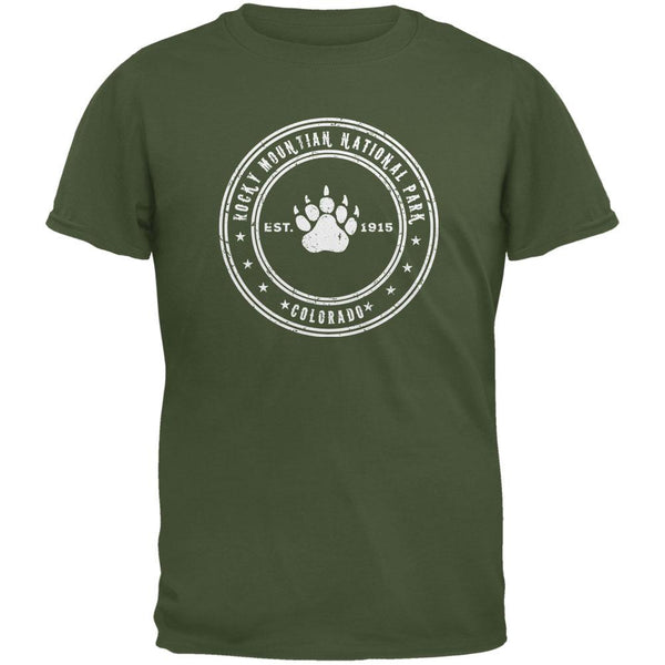 Rocky Mountain National Park Military Green Youth T-Shirt