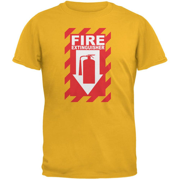 Funny Fire Extinguisher Gold Adult T-Shirt