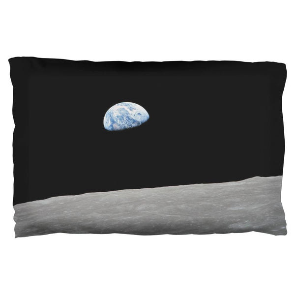 Earth Rising Over the Moon Pillow Case