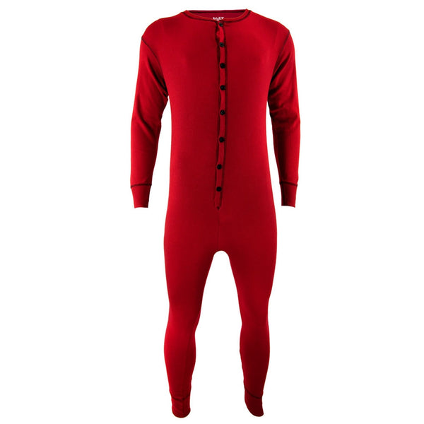 Red Adult Flapjack Union Suit