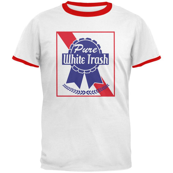Pure White Trash White/Red Men's Ringer T-Shirt