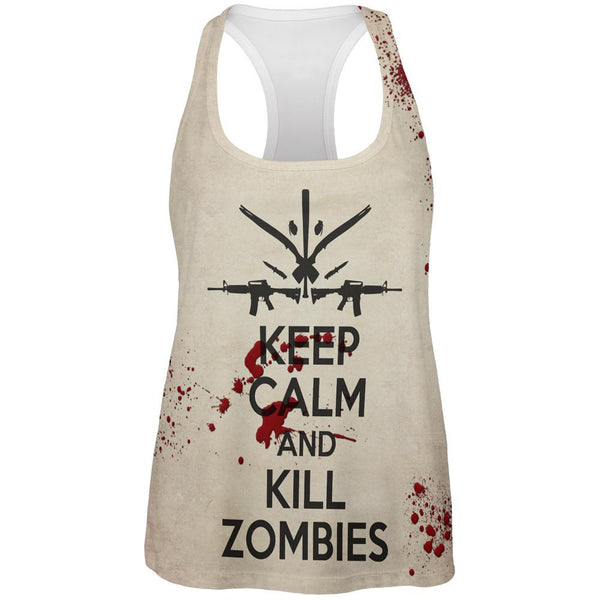 Keep Calm and Kill Zombies All Over Womens Tank Top