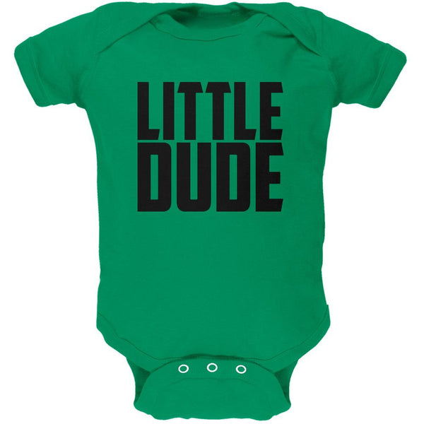 Little Dude Buddy Shirt Kelly Green Soft Baby One Piece