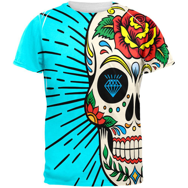 Sugar Skull All Over Adult T-Shirt