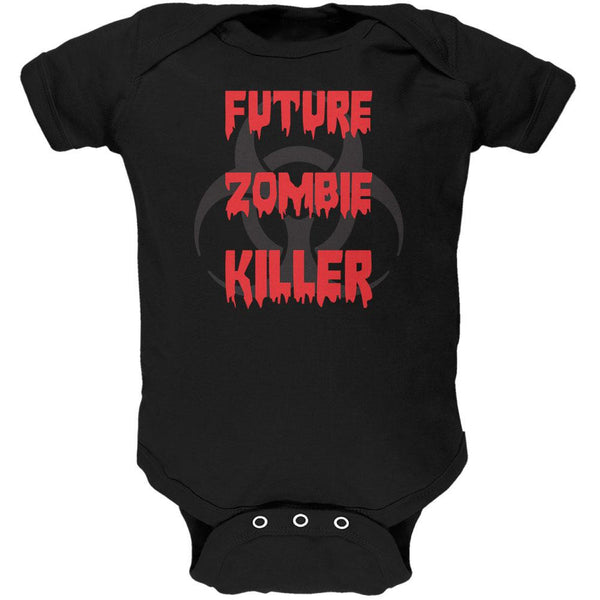 Future Zombie Killer Black Soft Baby One Piece