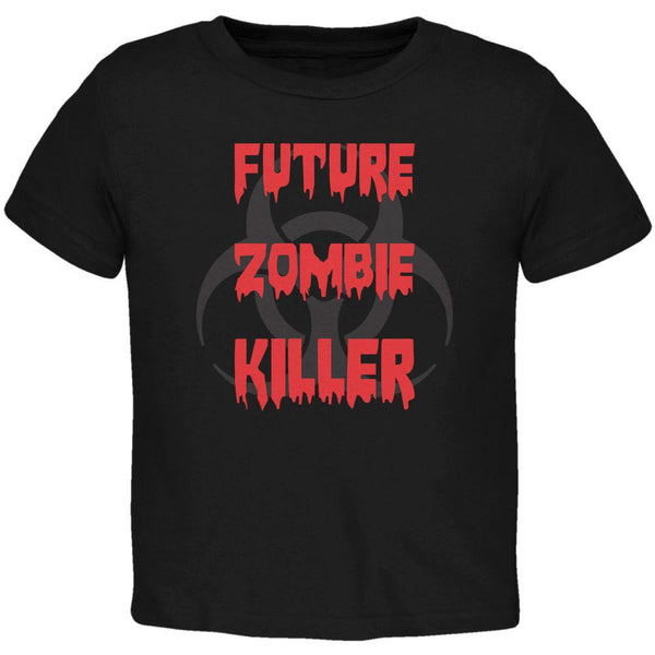 Future Zombie Killer Black Toddler T-Shirt
