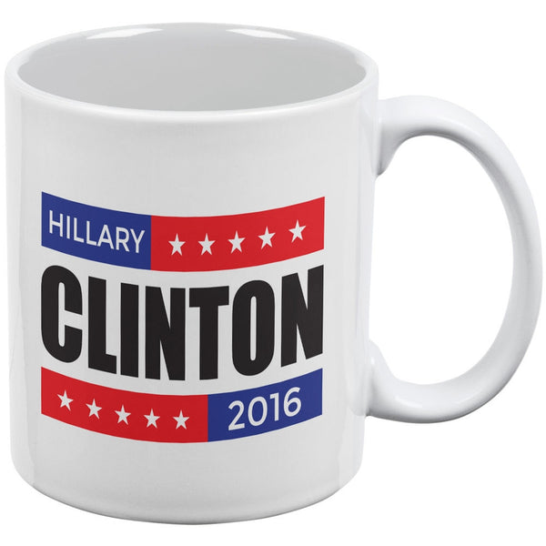 Election 2016 Hillary Clinton Stacked White All Over Coffee Mug