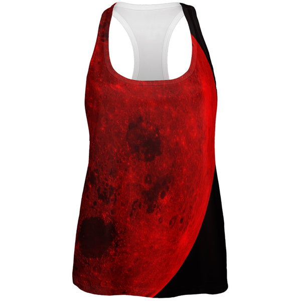 Halloween Blood Moon All Over Womens Racerback Tank Top