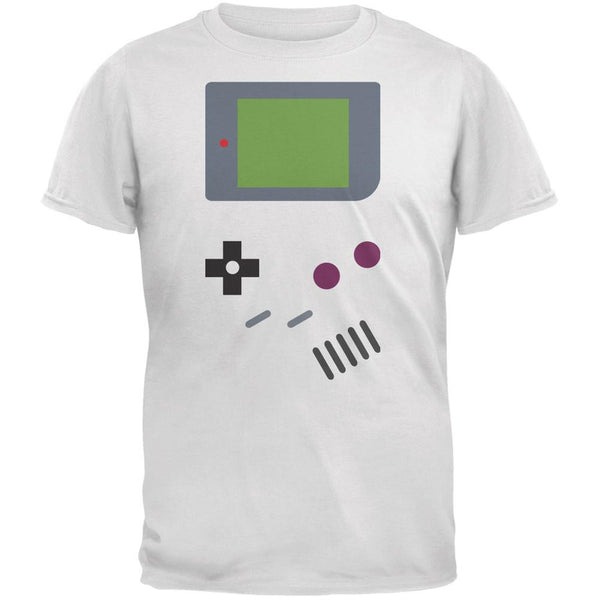Handheld Gamer White Adult T-Shirt