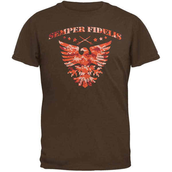 Semper Fidelis Eagle Brown Adult T-Shirt