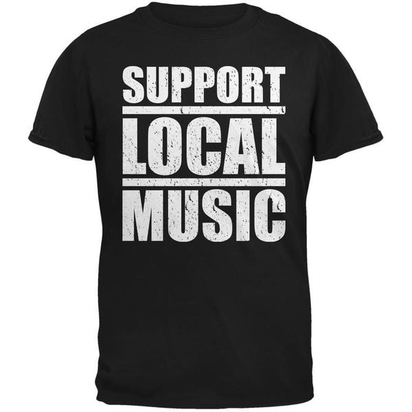 Support Local Music Black Adult T-Shirt