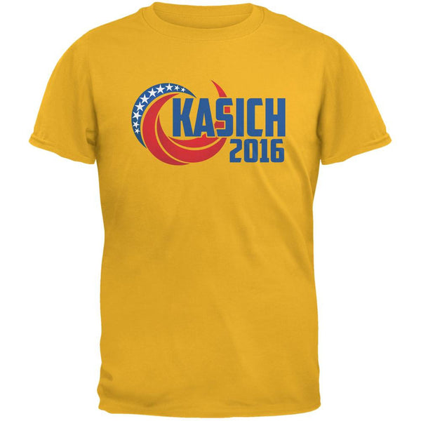 Election Kasich 2016 Swoosh Gold Adult T-Shirt