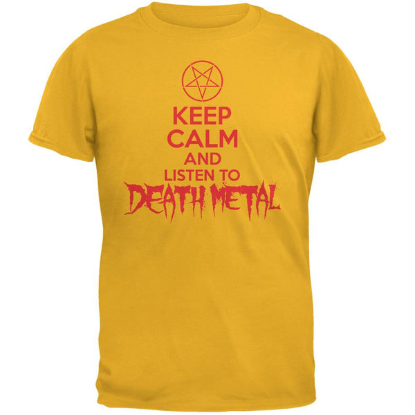 Keep Calm And Listen To Death Metal Gold Adult T-Shirt