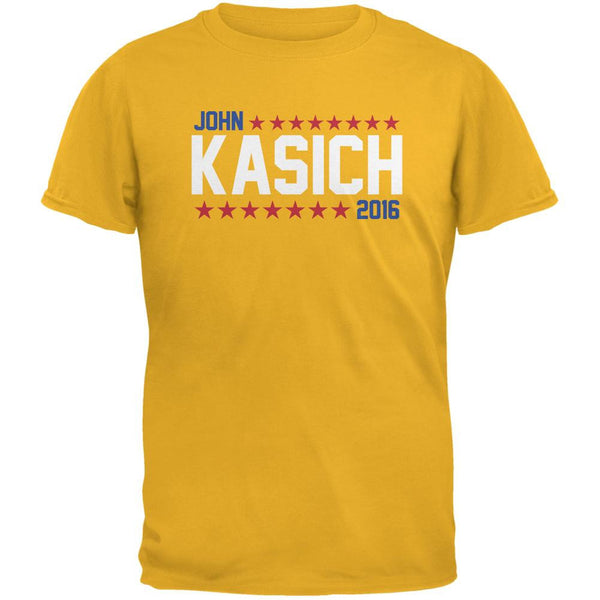 Election John Kasich 2016 American Stars Gold Adult T-Shirt