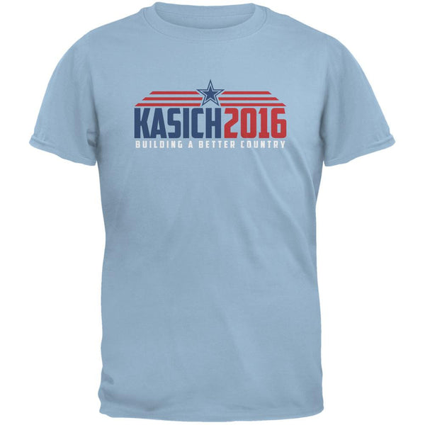 Election Kasich 2016 Building A Better Country Light Blue Adult T-Shirt