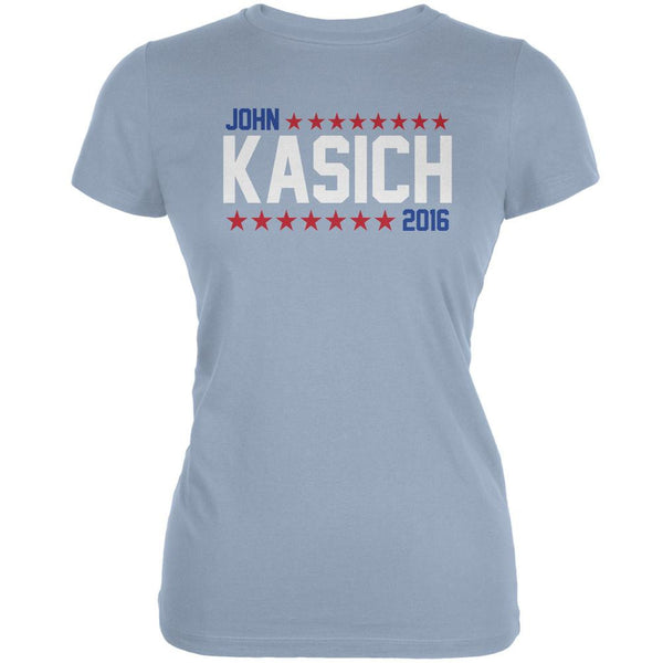 Election John Kasich 2016 American Stars Light Blue Juniors Soft T-Shirt