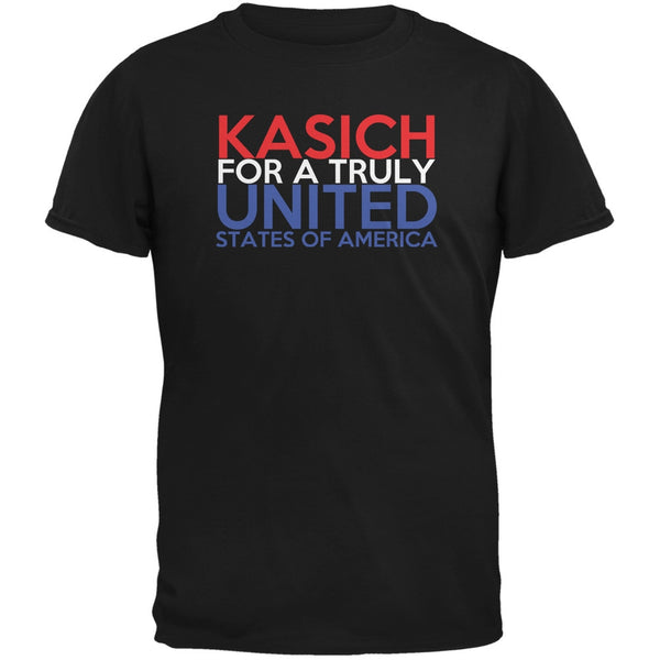 Election 2016 John Kasich Truly United Black Adult T-Shirt