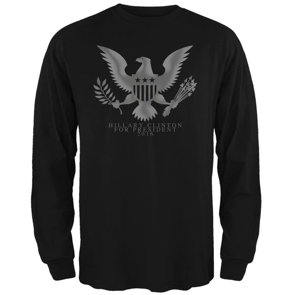 Election 2016 Hillary Clinton President Seal Black Adult Long Sleeve T-Shirt