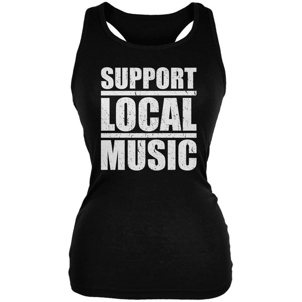Support Local Music Black Juniors Soft Tank Top