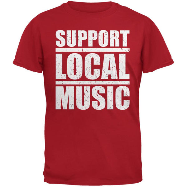 Support Local Music Red Adult T-Shirt
