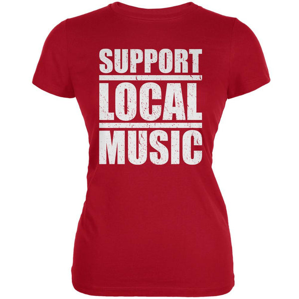 Support Local Music Red Juniors Soft T-Shirt
