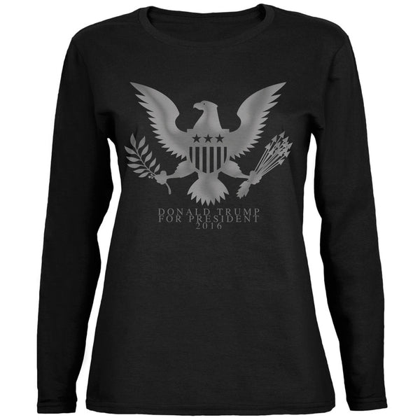 Election 2016 Donald Trump President Seal Black Womens Long Sleeve T-Shirt