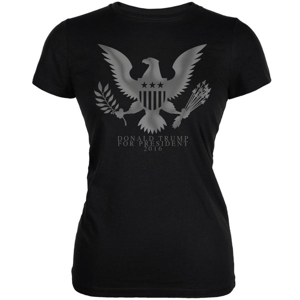 Election 2016 Donald Trump President Seal Black Juniors Soft T-Shirt
